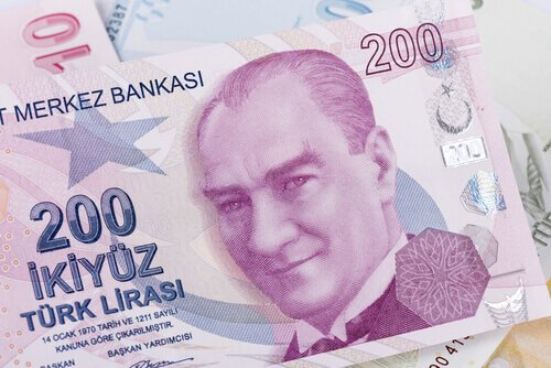 USDTRY Turkish lira